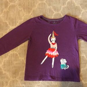 Kitty appliqué top from Boden, size 3-4